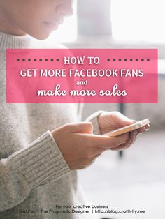 Are you sick of going on to Facebook every day only to see that your fan count hasn't changed? Here's how to get more Facebook fans and make more sales!