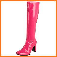 Funtasma by Pleaser Women's Kiki-350 Boot,Hot Pink Stretch Patent,7 M