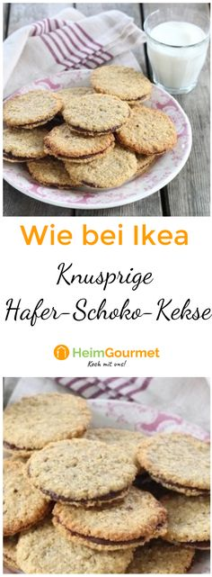 Ruck zuck gebacken und gleich schon wieder weggeknuspert: ein leckeres Rezept f… Baked in a jolt and immediately sliced away: a delicious recipe for our darlings at Ikea: the chocolate oat biscuits. Pin: 736 x 2000 Chocolate Oats, Chocolate Biscuits, Chocolate Cookies, Chewy Brownies, Easy Candy Recipes, Dessert Recipes, Christmas Crack Toffee Recipe, Christmas Recipes, Saltine Toffee