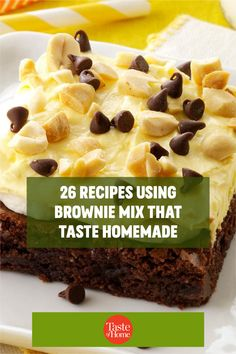 Our favorite shortcut to decadent desserts? Recipes using brownie mix. Just grab a box from the pantry and get ready to enjoy trifles, bars, cheesecake and more. Homemade Chocolate Frosting, Homemade Brownies, Grilled Bananas, Delicious Desserts, Dessert Recipes, Brownie Sundae, Mint Brownies, Holiday Pies, Recipe Collections