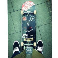 Let's Go Skate !! (regram @sampartaix) #ridesessions #teamsosh #newboard #street #sosh