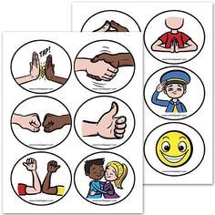 PDF File Color version 2 pages Page Size: X 11 in. 12 signs to help you greet students at your classroom door. Classroom Door Signs, Classroom Rules, Classroom Organization, Classroom Management, Amelie Pepin, Autism Education, Responsive Classroom, French Classroom, Leader In Me