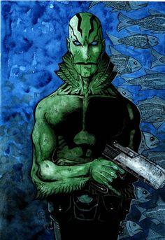 Abe Sapien by Ben Templesmith Comic Art