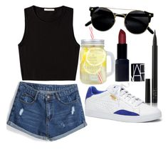 """""""Untitled#1391"""" by mihai-theodora ❤ liked on Polyvore featuring NARS Cosmetics, Pieces and Puma"""