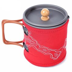 600ML Portable Coffee Pot Outdoor Kettle Cup