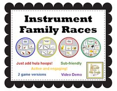 Music with Mrs. Dennis: Instrument Family Races