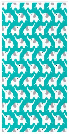 """Elephant Turqoise 45"""" Print // this fabric would make a sweet summer dress!"""