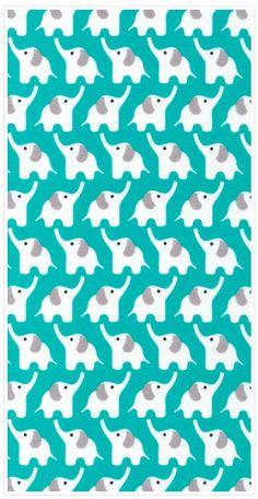 "Elephant Turqoise 45"" Print"