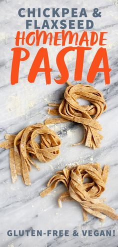 Gluten-Free and Vegan Chickpea and Flaxseed Homemade Pasta - Wholefully pasta pasta pasta pasta bake recipes rezepte sauce Sin Gluten, Vegan Gluten Free, Chickpea Flour Recipes, Pasta Maker, Vegan Foods, Tortellini, Whole Food Recipes, Recipes Dinner, Pasta Recipes
