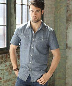 #LLBeanSignature: Chambray Shirt, Short-Sleeve