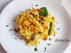 Blog de cuina de la dolorss: Arroz con bacalao y verduras