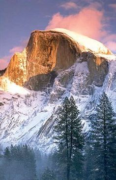 Half Dome in winter ~ is one of Yosemite National Park's most spectacular views, California