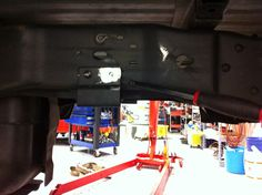 Ford F-350 lifted truck underside