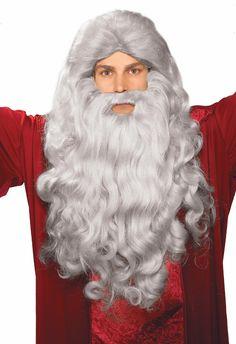 Grey Moses Wig & Beard Adult Costume Set