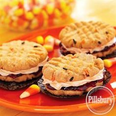 Funfetti® Halloween Peanut Butter and Jelly Sandwich Cookies from Pillsbury® Baking