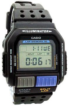Casio - SDB-600-1V - Montre Homme - Quartz Digitale - Chronomètre/Alarme/Eclairage - Bracelet Caoutchouc Noir: Amazon.fr: Montres