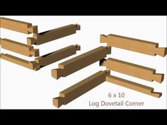 A modern log dovetail corner joint. Cabins In The Woods, House In The Woods, Dovetail Jig, Modern Log Cabins, How To Build A Log Cabin, Corner House, Timber Frame Homes, Building Exterior, Building Structure