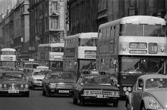 Traffic passing by Clerys department store on OConnell Street in Dublin, including the No. 10 bus, a Garda car and a taxi, March Old Pictures, Old Photos, Dublin City, Dublin Ireland, Buses, My Childhood, Picture Video, Irish, Photo Galleries