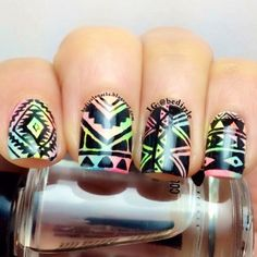 Neon Tribal Print | The Daily Polish