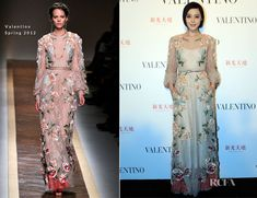 Fan Bing Bing wearing this Valentino dress better than the model on the runway