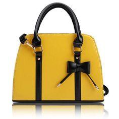 Vintage Stylish Woman Bowknot Handbag