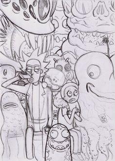 Rick and Morty by nic011.deviantart.com on @DeviantArt