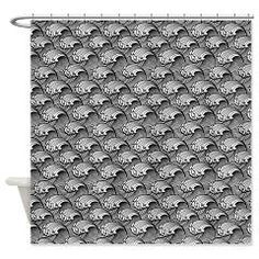 Beautiful Japanese wave in black and white Shower> Exquisite Japanese wave design > Victory Ink Tshirts and Gifts