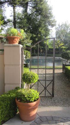 Early morning in designer Joe Ruggiero's Pool Garden.