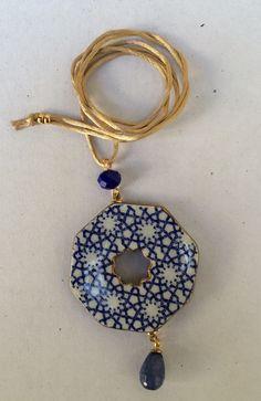 Ceramic Pendant, Ceramic Jewelry, Porcelain Ceramics, Ceramic Pottery, Play Clay, Native Art, Washer Necklace, Polymer Clay, Jewelry Necklaces