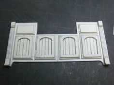 Dollhouse Miniature Furniture - Tutorials | 1 inch minis: PART TWO, KITCHEN CABINETS FROM MAT BOARD