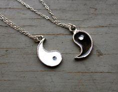 Set of 2 Best friends Yin and Yang Handcast by PenelopeMeatloaf, $28.00
