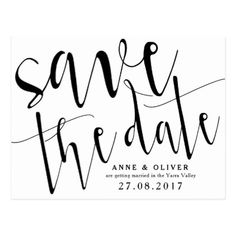 Rustic Save the Date Postcard Black - black and white gifts unique special b&w style
