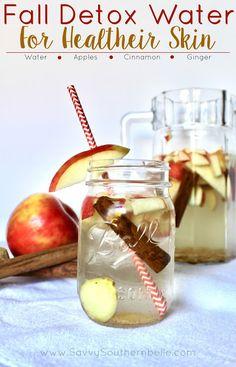 Fall Detox Water   Detox Water   Skin Detox   Healthy Skin   Natural remedies for skincare