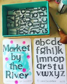 Hmmm, a tad ambitious for the first day of #carvedecember ! I love these and will use them heaps, particularly in my art journal, but a whole alphabet does take awhile... And on other matters I will be at a brand new market in Ermington at Halvorsen park on Saturday 9 -3, come say Hi! #makearteveryday #handmadestamp #handcarved #rubberstamp #handlettering #handprinted #homemadestamp #eraserstamps