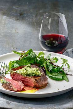 perfect steak with garlicky herb butter – Stuck in the kitchen