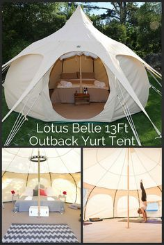 Talk about Glamping. This awesome Lutos Belle Tent is definitely on top of our list of outdoor accommodation.