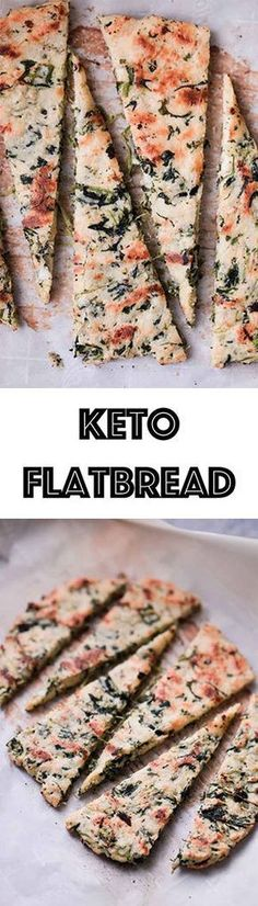 Low Carb Keto Flatbread Recipe - Spinach & Garlic