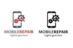 Mobile Repair Logo by tkent on @creativemarket
