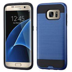 MYBAT Merge Brushed Samsung Galaxy S7 Edge Case - Dark Blue