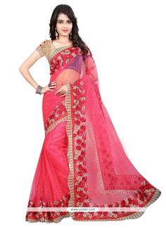 Fab Net Pink Designer Saree Model: YOSAR6641