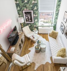 A chic @ZGallerie #SmallSpaces home makeover with NYC style influencer @weworewhat. Click for a full tour on zgallerie.com