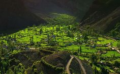 Lush valley of Chitral and extremely beautiful village