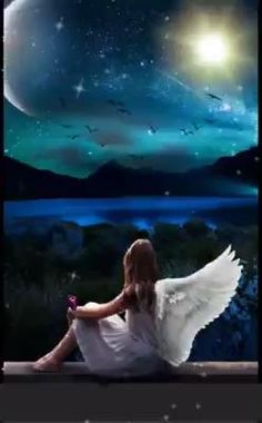 Good Night Angel, Good Night Gif, Good Night Sweet Dreams, Good Night Image, Angel Images, Angel Pictures, Jesus Pictures, Nature Pictures, Beautiful Fantasy Art