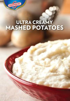 The secret to making these Ultra Creamy Mashed Potatoes extra-flavorful is cooking them in Swanson chicken broth. Then mash until perfectly smooth, with just the right amount of butter and cream. This is one savory side dish everyone sitting around the Thanksgiving dinner table is sure to enjoy.