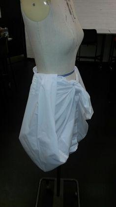 Draping a shirt onto a dummy
