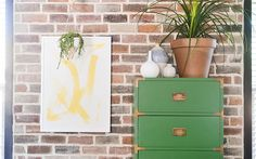 Get the how-to for 10 awesome DIY paint projects for your home. Learn the secrets to using paint to totally update your rooms and furniture in a day. Painting Laminate Furniture, Paint Furniture, Furniture Makeover, Diy Painting, Chair Painting, Diy Projects, Project Ideas, Craft Ideas, Diy Crafts