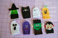 DIY Halloween felt finger puppets