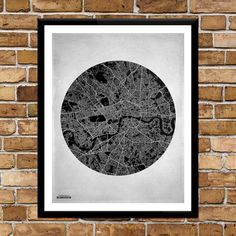 London City Street Map by THIRTYSIXPRINT on Etsy, £30.00