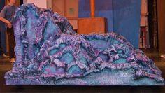 2 sided paper mache Little Mermaid Rock:  Ariel's Side  www.give-em-props-studio.com