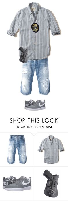 """""""Pete cazzeggio"""" by meshuge on Polyvore featuring Diesel, Hollister Co., NIKE, men's fashion e menswear"""